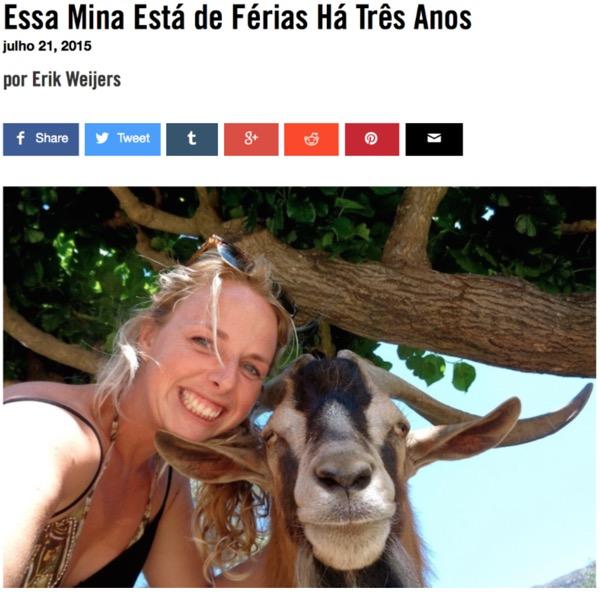 Maartje met geit