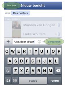 Zelfs in de Facebook app is het een zootje!